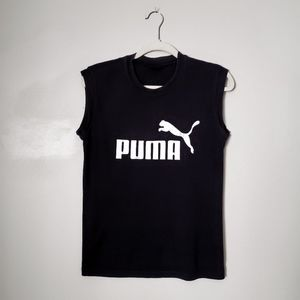 VINTAGE PUMA BLACK TANK MUSCLE TANK TOP